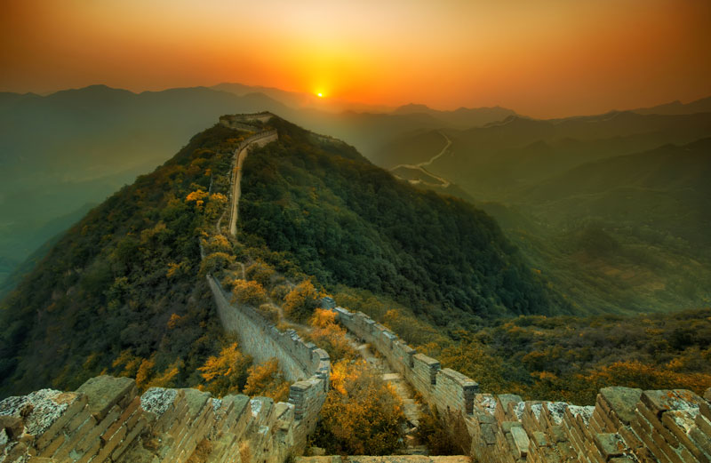 Great Wall of China sunset quotes