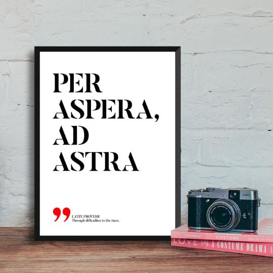 Per aspera ad astra – Through hardships to the stars